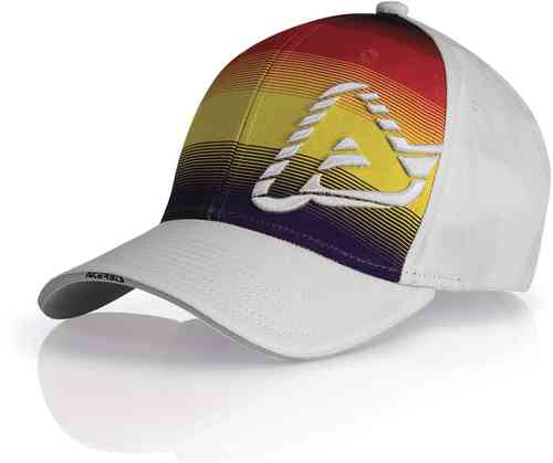 Acerbis Cap Rainbow White/Orange S/M
