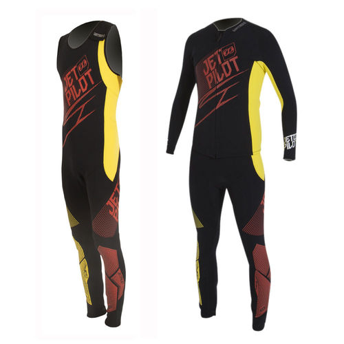 Jetpilot Matrix 3 John and Jacket, Red/Yellow