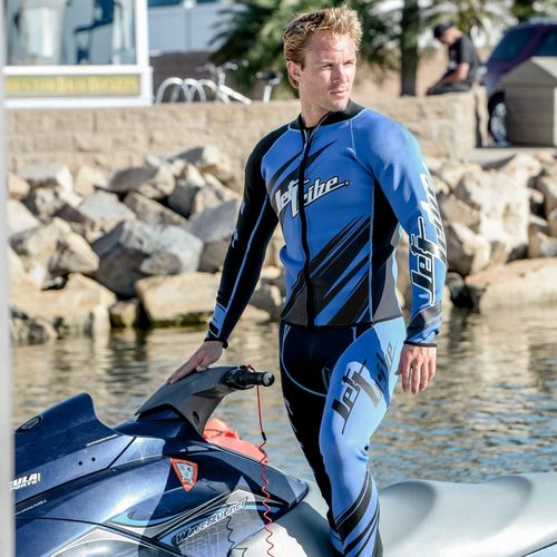 Jettribe  WETSUIT JOHN/JACKET Sharpened blue