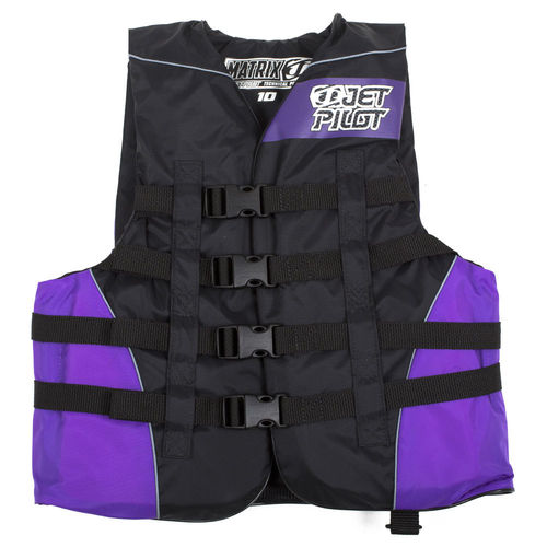 Jetpilot Matrix Girls Nylon Vest schwarz-lila