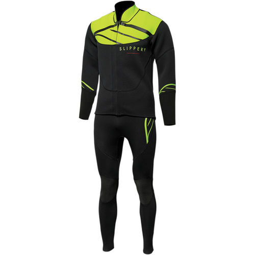 Slippery Wetsuit JOHN & JACKET black-lime